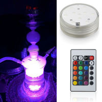 Al fakher shisha tobacco Decorative 2.8inch Remote Controlled Led Glass Hookah Shisha Light