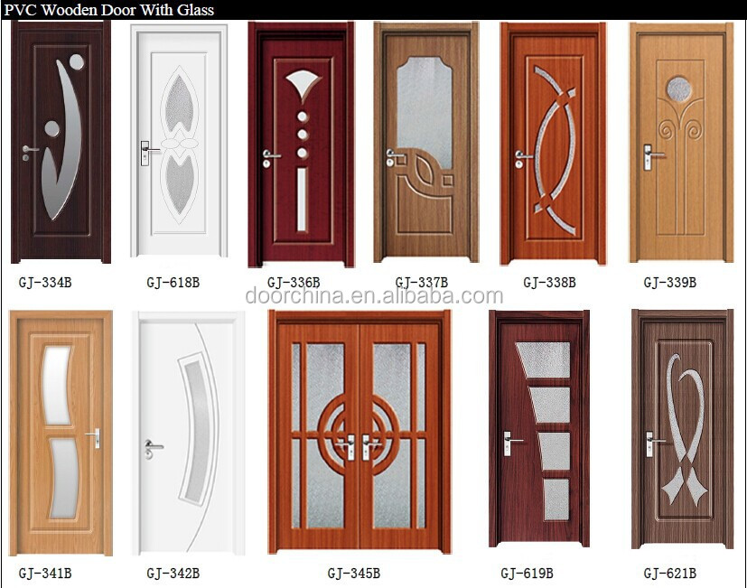 Turkish Wooden Diamond Glass Interior Doors Pvc Sample Door Design