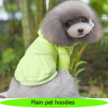 Wholesale dog plain hoodies, popular blank pet hoodies, custom plain pet t-shirts