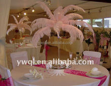 Ostrich feather centerpiece for wedding stage decoration