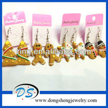 Polymer Clay Christmas Earrings CHRISTMAS EARRINGS SANTA BELL TREE GINGERBREAD SNOWMAN CANDY CANE ROCKING HORSE