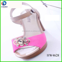 Gold Crystal Alloy Wear Shoe Buckle,metal shoe ornament