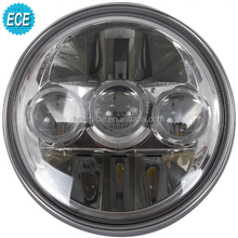 LED Round Motorcycle Headlamps Front position / High beam / low beam light