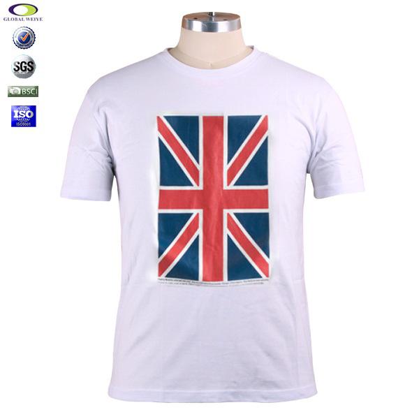 High quality custom england flag t shirts in china view for High quality custom shirts