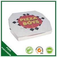 fancy food grade aluminum foil pizza box printed logo
