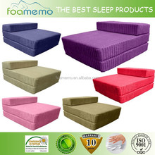 Home Use Knitted Fabric 3 folding mattress