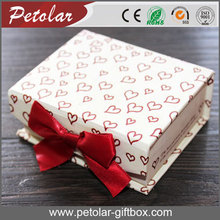 heart pattern cheap paper box with bowknot