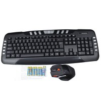 2.4GHz Wireless Keyboard Mouse Combo with 19 Hot Keys