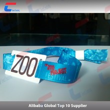 NFC tag rfid smart card fabric wristband with original chip S50