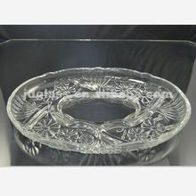 2012 beautiful clear bead glass plates with flower