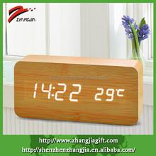 2015 Mini Oblong Decorative Wooden Led Clock