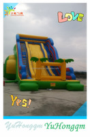china hottest pvc durable inflatable big slides large inflatable jungle slide play land for sale
