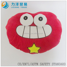 Plush cushion or pillow (crab style), Customised toys,CE/ASTM safety stardard