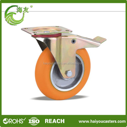 latest style high quality 250mm industrial rubber caster wheel swivel plate caster wheels