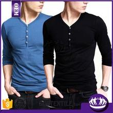 Cotton/spandex gym t shirt OEM wholesale o-neck dry fit t shirts mens