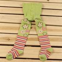 custom knitted cotton fashion jacquard children tights baby pantyhose