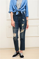 high quality fashion jeans pants,professional stock jeans with holes for women,washed jeans,wholesale