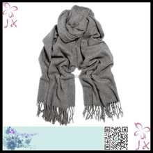 Women gray thick knitted wholesale scarf JXWS-0068