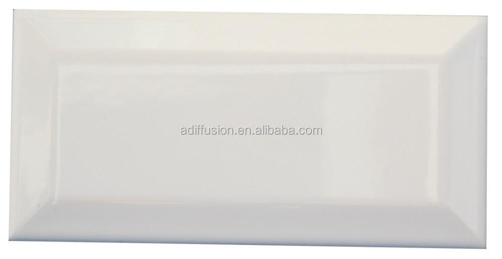 Wit mat afgeschuinde metro tegels 7 5 15cm 3x6 tegels product id 60122390392 - Witte matte tegel ...