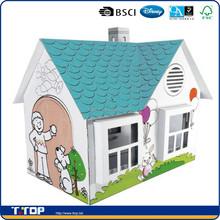 Disney Audited & BSCI Factory DIY Painting Cardboard Play House
