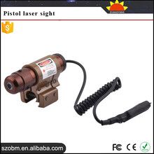 Shenzhen Wholesale 1mW/5mW/10mW/30mW Point type with Remote switch Tactical pistol red dot laser sight