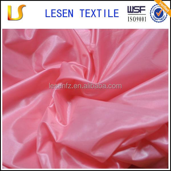 Lesen textile cired downproof/waterproof nylon taffeta fabric