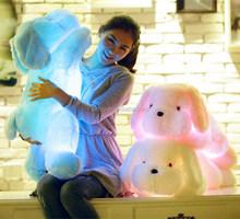 lying plush lighting toys dog/ cute toy dog for kids