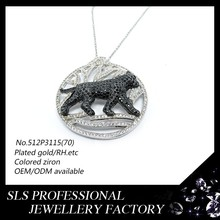 Animal pendant types jewellery ,Leopard printing pendant ,cunning Leopard pendant 925 silver jewelry wholesale for hip-hop boys
