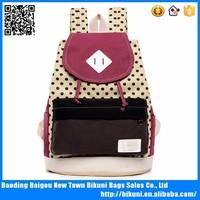 High Quality Canvas Korean Cute School Backpacks with Drawstring
