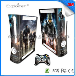 Oem factory china decal sticker for xbox360 slim colorful skin