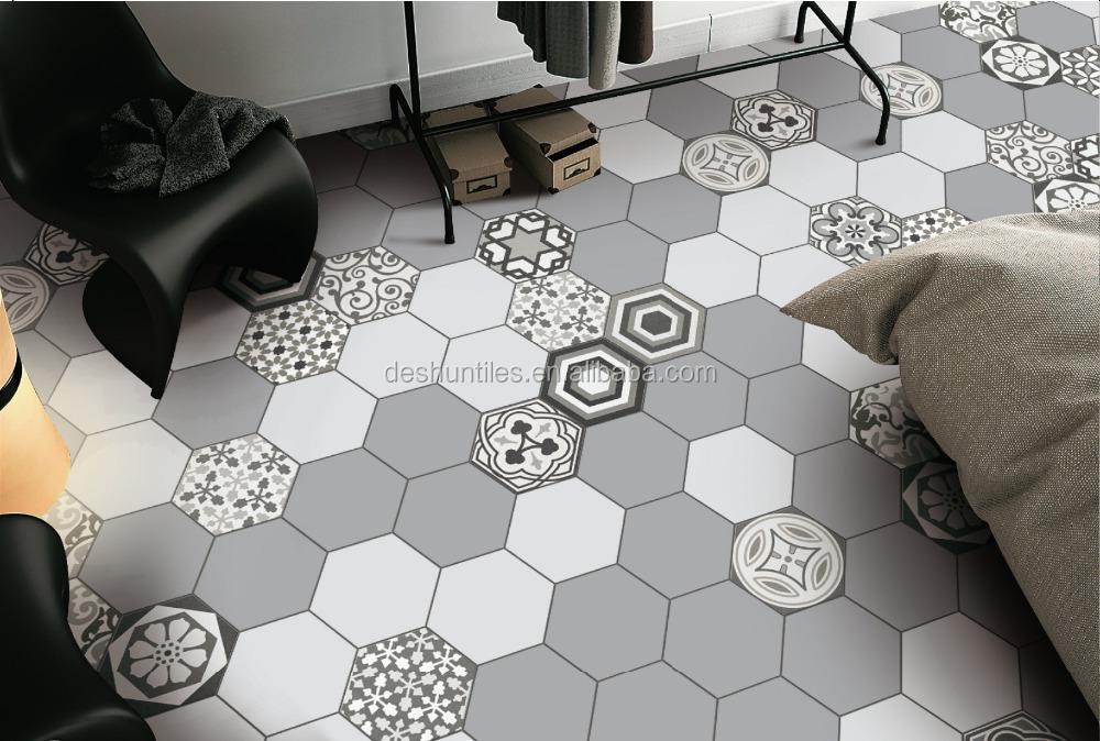 Nice Decorative Grey Color Hexagon Ceramic Tile Wall Tile For Wall