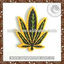 leaf shape design air freshener card customized fragrance