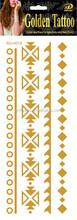 tattoo high quality gold foil fake tattoo,temprorary tattoo custom gold foil tattoo,metallic waterproof body jewelry gold tattoo