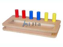 Montessori Toddler Imbucare Peg Box,Montessori materials,Montessori preschool materials wooden toys