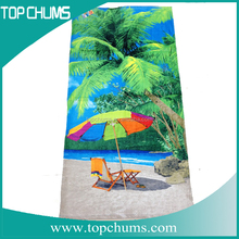 Brand logo printed embroider customized beach towel,cotton blank foldable beach towel with pillow,turkish cotton beach towel