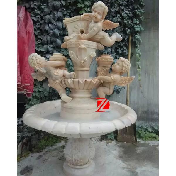 jardin fontaine en marbre avec chérubin statue-Produits en ...