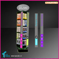 Top Selling Cell Phone Accessories Display Rack Acrylic Display stand for Ipad Cover