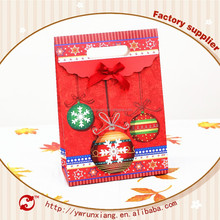 Best selling christmas party gift paper bag,3d paper gift bag,craft paper bag M