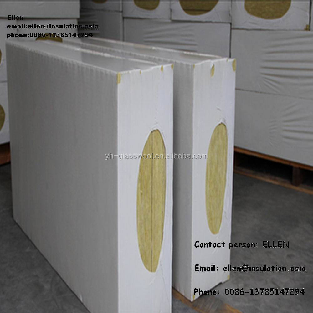 Exterior wall thermal insulation board rock wool fireproof for Fireproof wall insulation