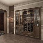 2014 novo design baratos antigo copo de vinho madeira armário de exposição