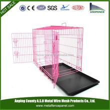 2-Door Pet Crate Metal Folding Cage