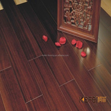 High gloss black walnut smooth wood flooring form good factory with good price