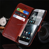 2015 New Luxury Vintage Wallet Stand Flip Case For HTC One M8 Retro Crazy Horse PU Leather Cover