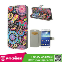Butterflies & Plants for Samsung Galaxy Grand 2 Duos G7102 G7100 Flip PU Leather Shell Cover