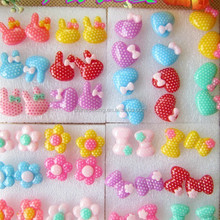 Cute colorful rabbit earrings,young girls flower and bowknot design stud earrings wholesale