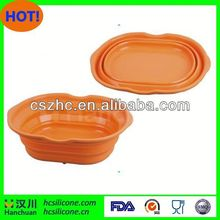 collapsible dog bowl,collapsible pet bowl,collapsible water dog bowl