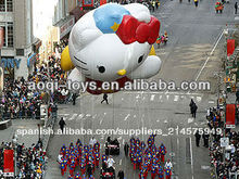 Inflable hello kitty globo/promoción inflable globo del desfile