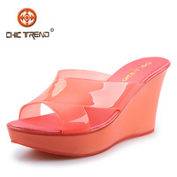 2016 newest design wedge jelly shoes cross straps crystal ladies sandals melissa pvc shoes