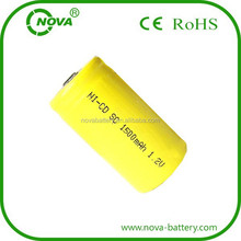 nickel cadmium rechargeable battery 1.2v sc 1500mah ni-cd battery