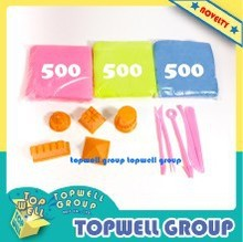 Educatioinal toys Coloured Sand for party gift (3 Bag Sand+ 5 Molds+ 5 Tools)